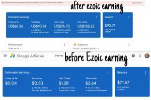 Ezoic earning